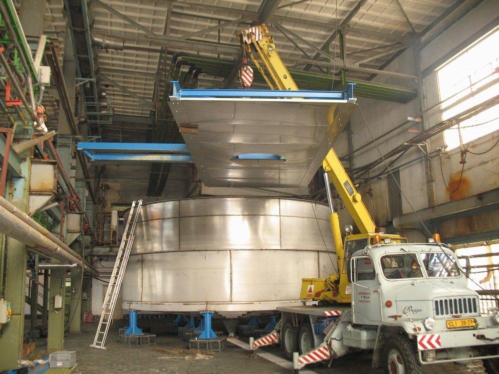 Резервуар 120 м3<br />«ДИАМО» резервуар, материал: 316Ti, объем: 120 м<sup>3</sup>.